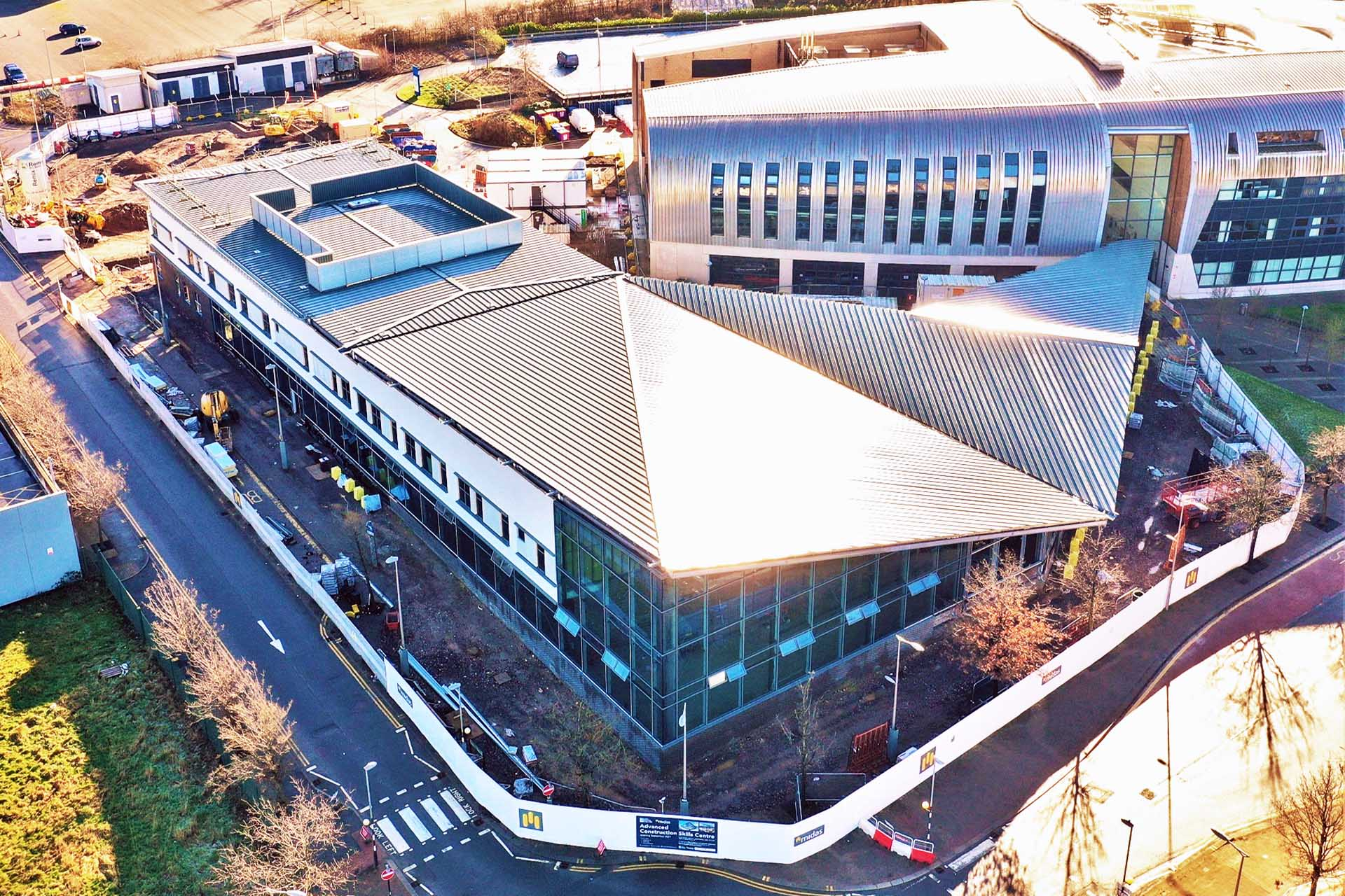 Arial photo of Advanced Construction Skills Centre