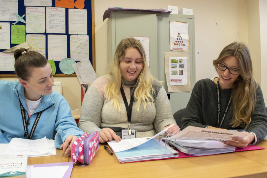 group of adult childcare students at Ashley Down Centre