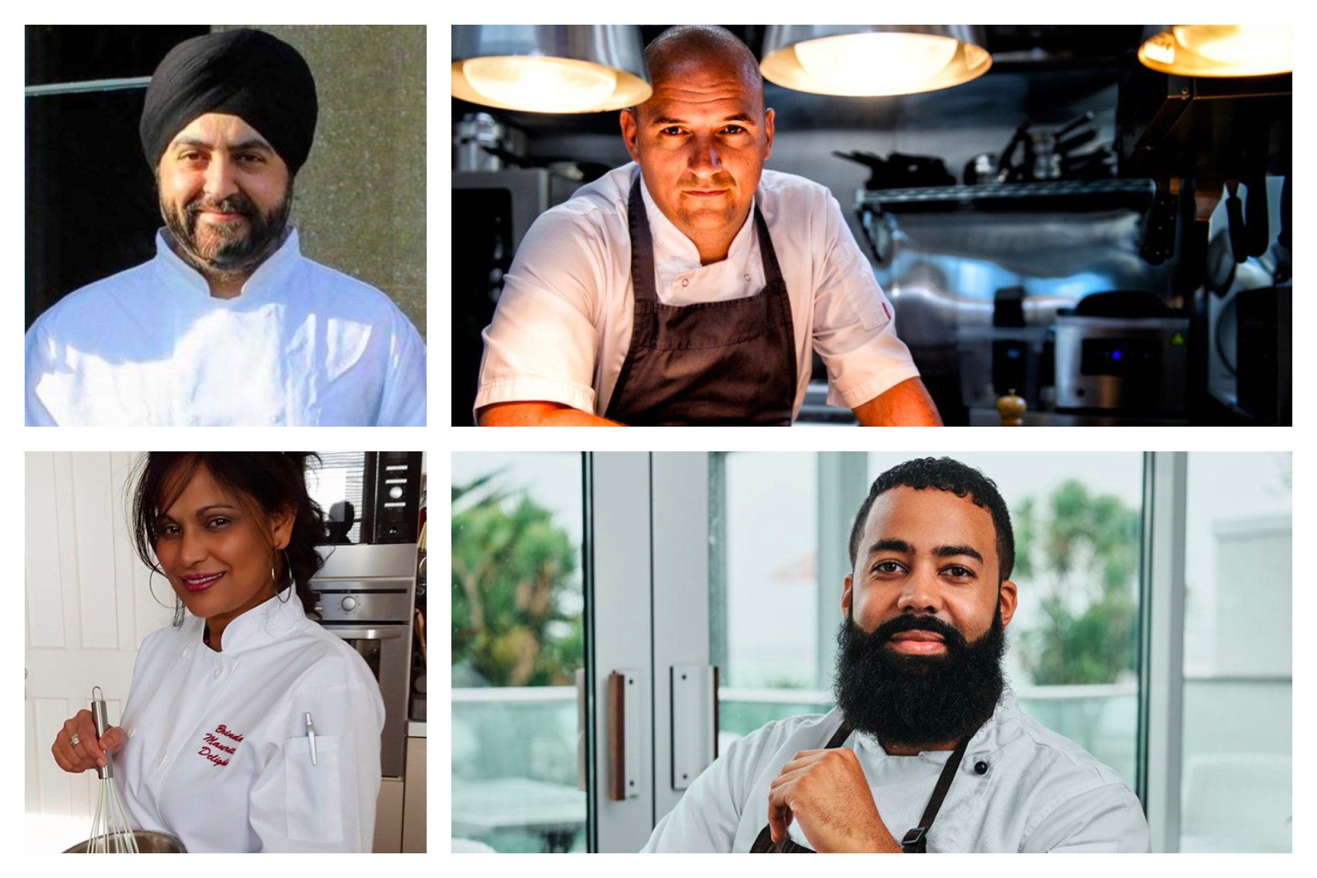 Four of the chefs who put on the masterclasses