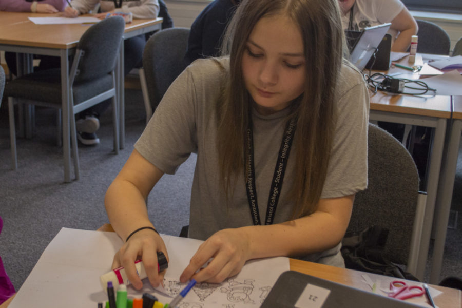 Student on a City of Bristol College Childcare course