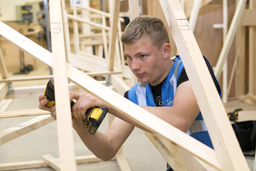 Construction students