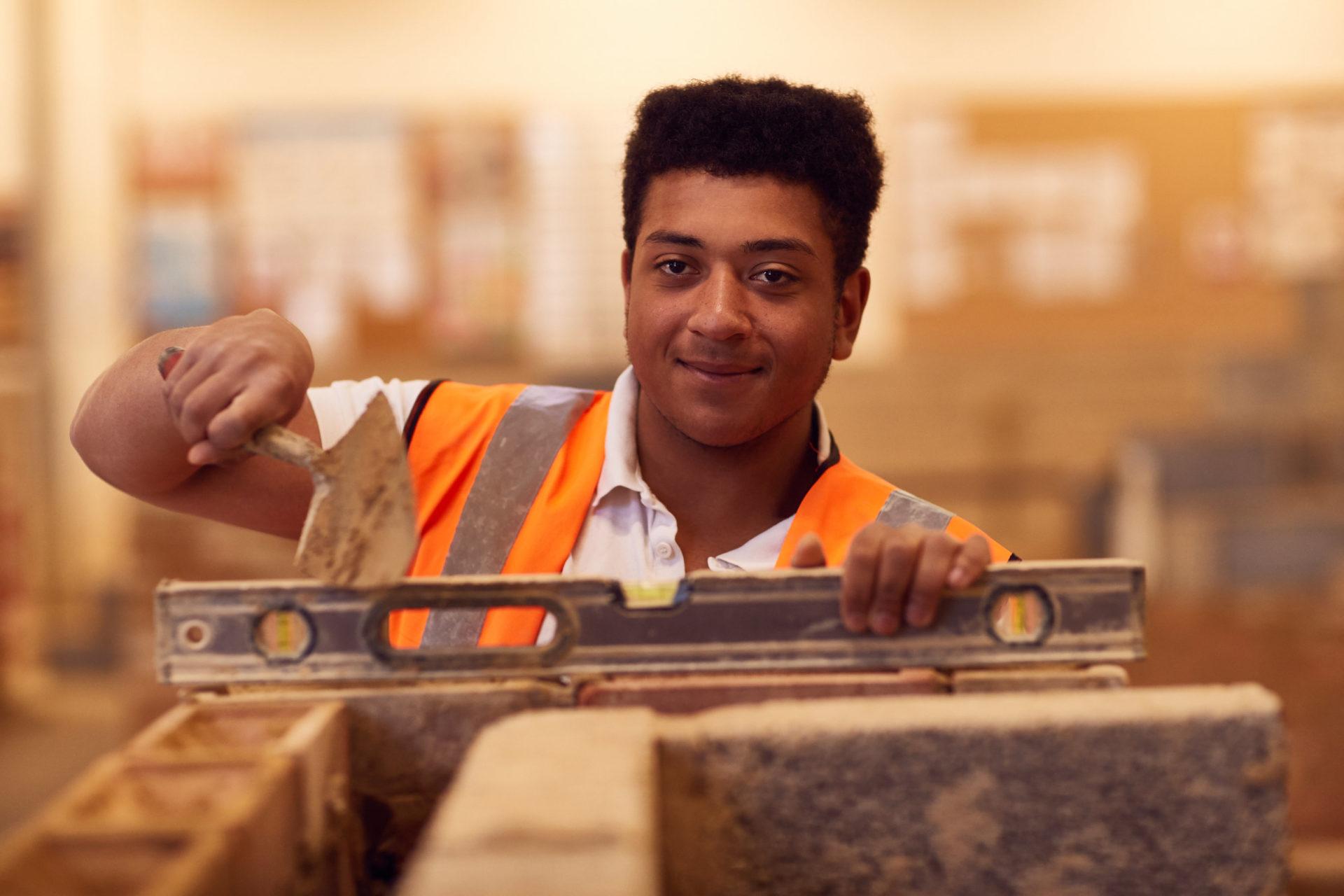 Construction course student