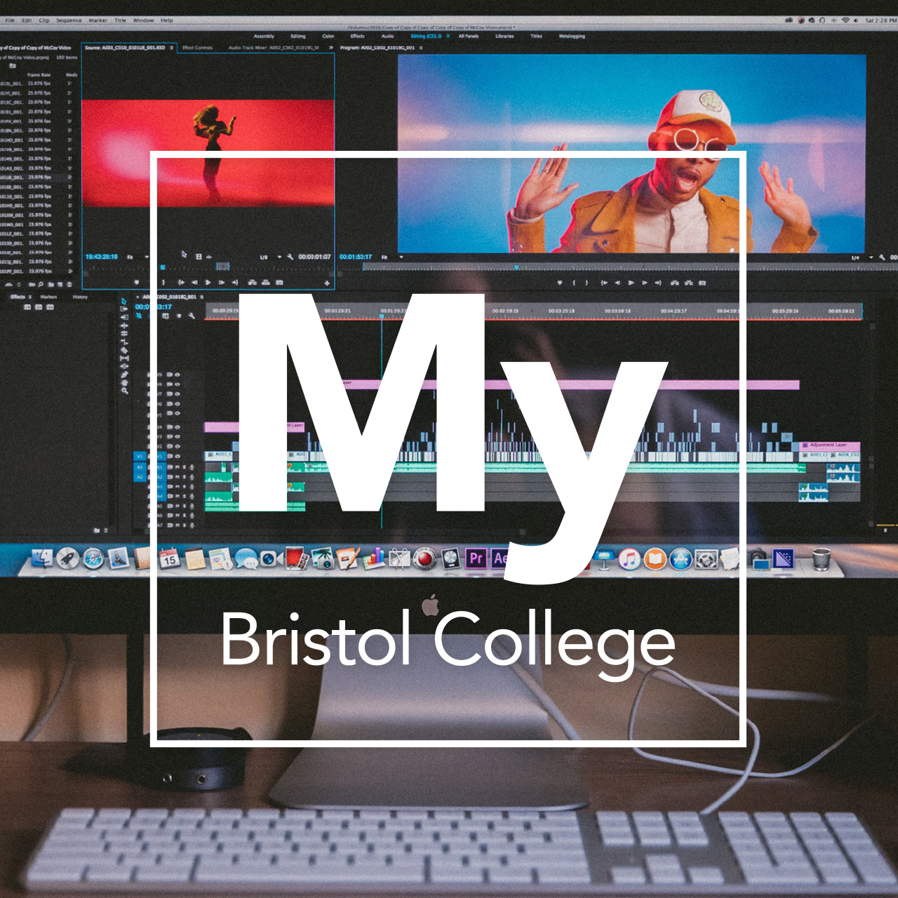 Creative and Digital with My Bristol College overlay