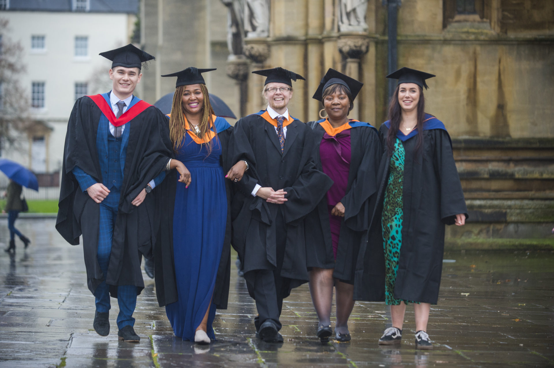 City of Bristol College Graduation outside cathedral