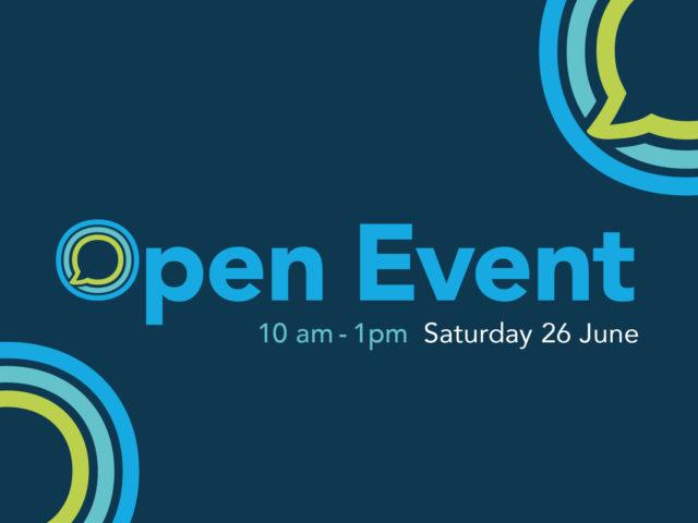 Open Event 26 June