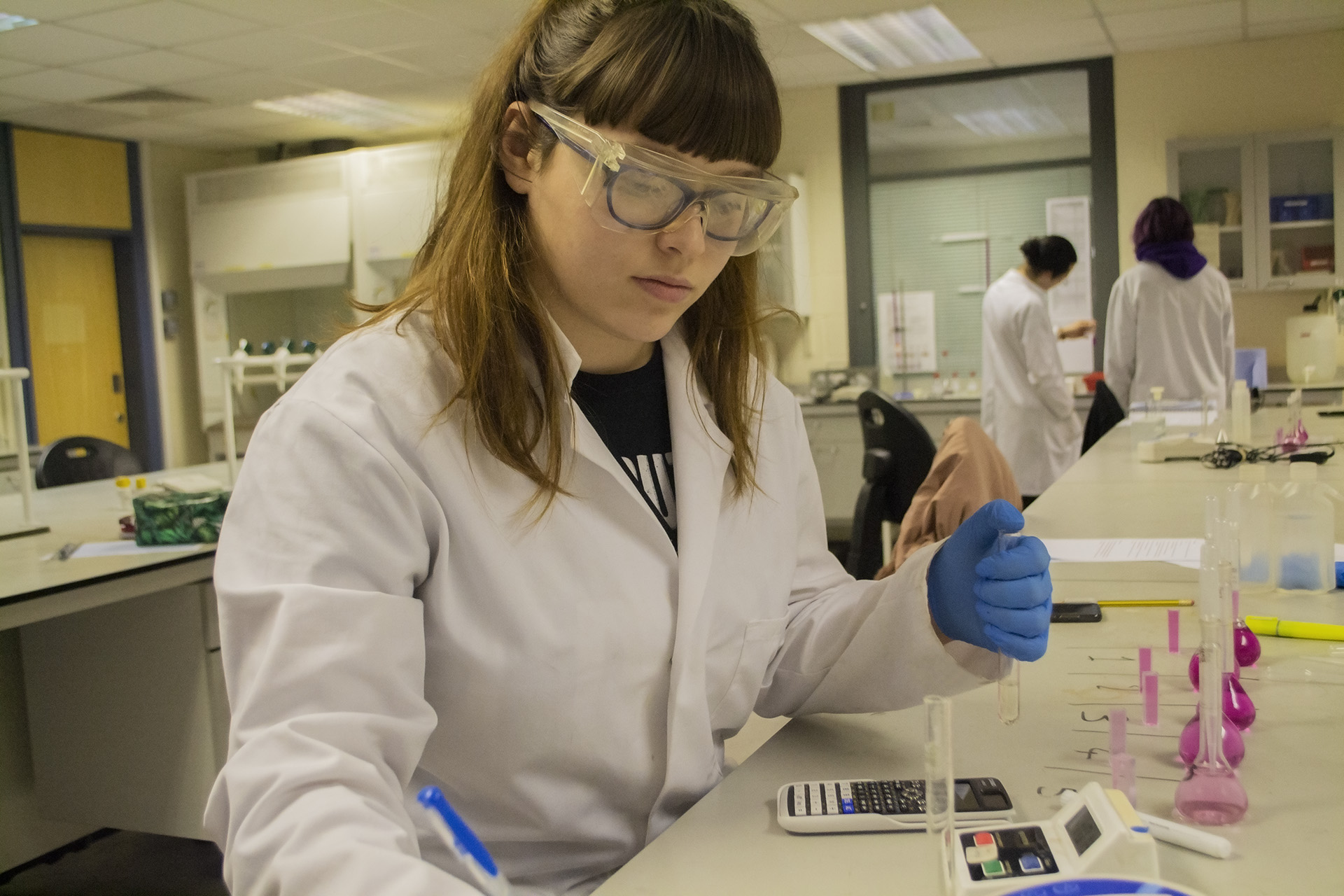 Science. Student in laboratory
