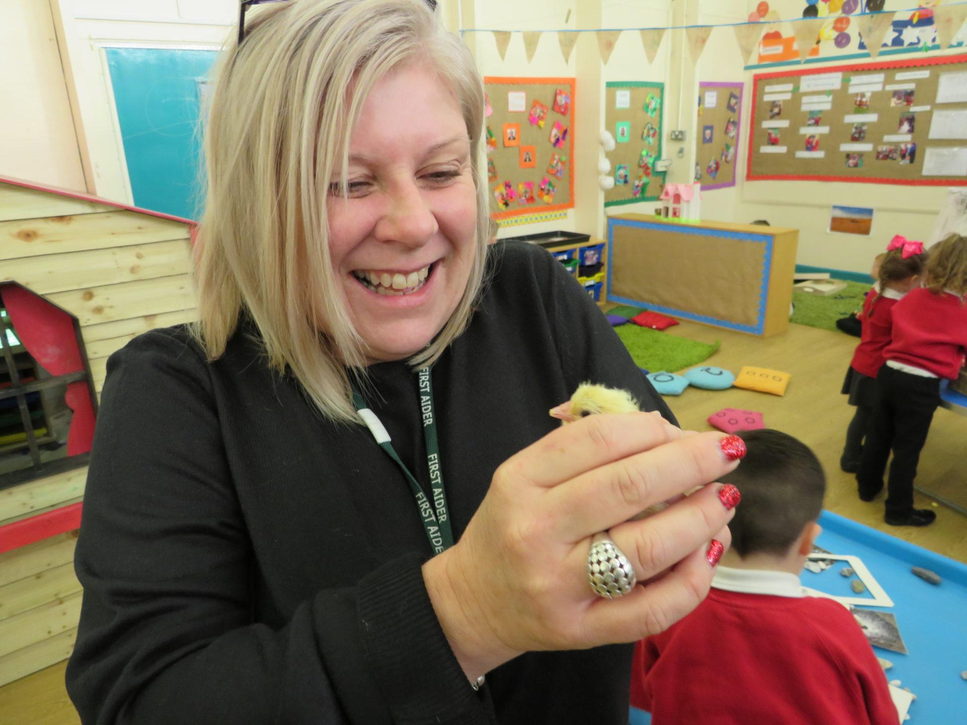 Sharon Hewitt is working with a Bristol primary school