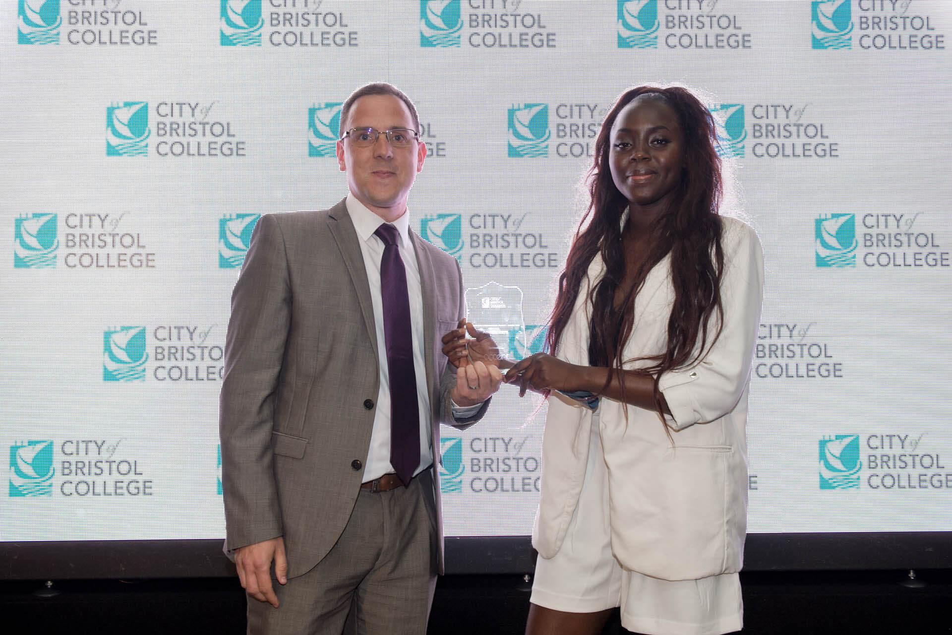 Student award winner and sponsor