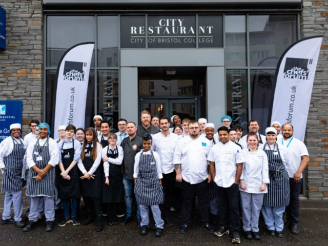 City of Bristol College students with chefs from Bristol and Weston-super-Mare