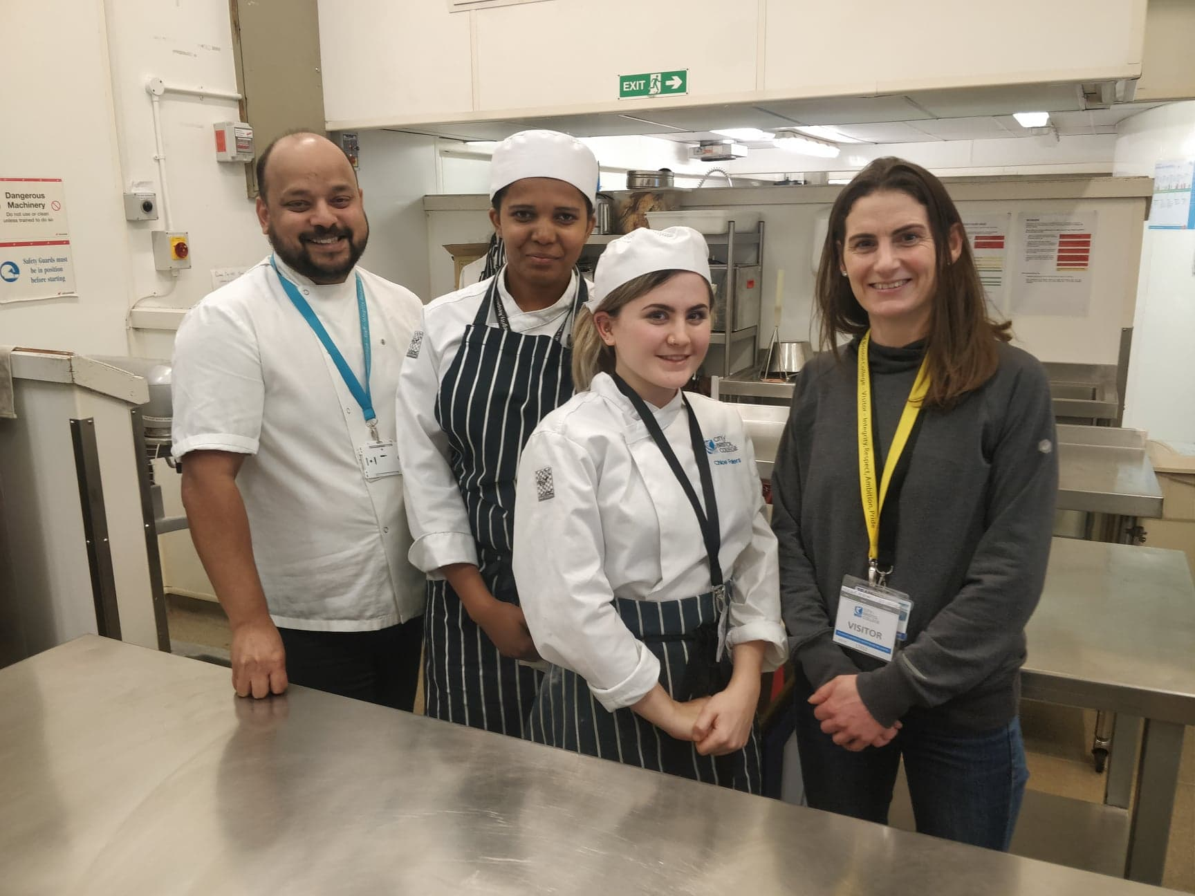 Team GB chefs at City of Bristol College