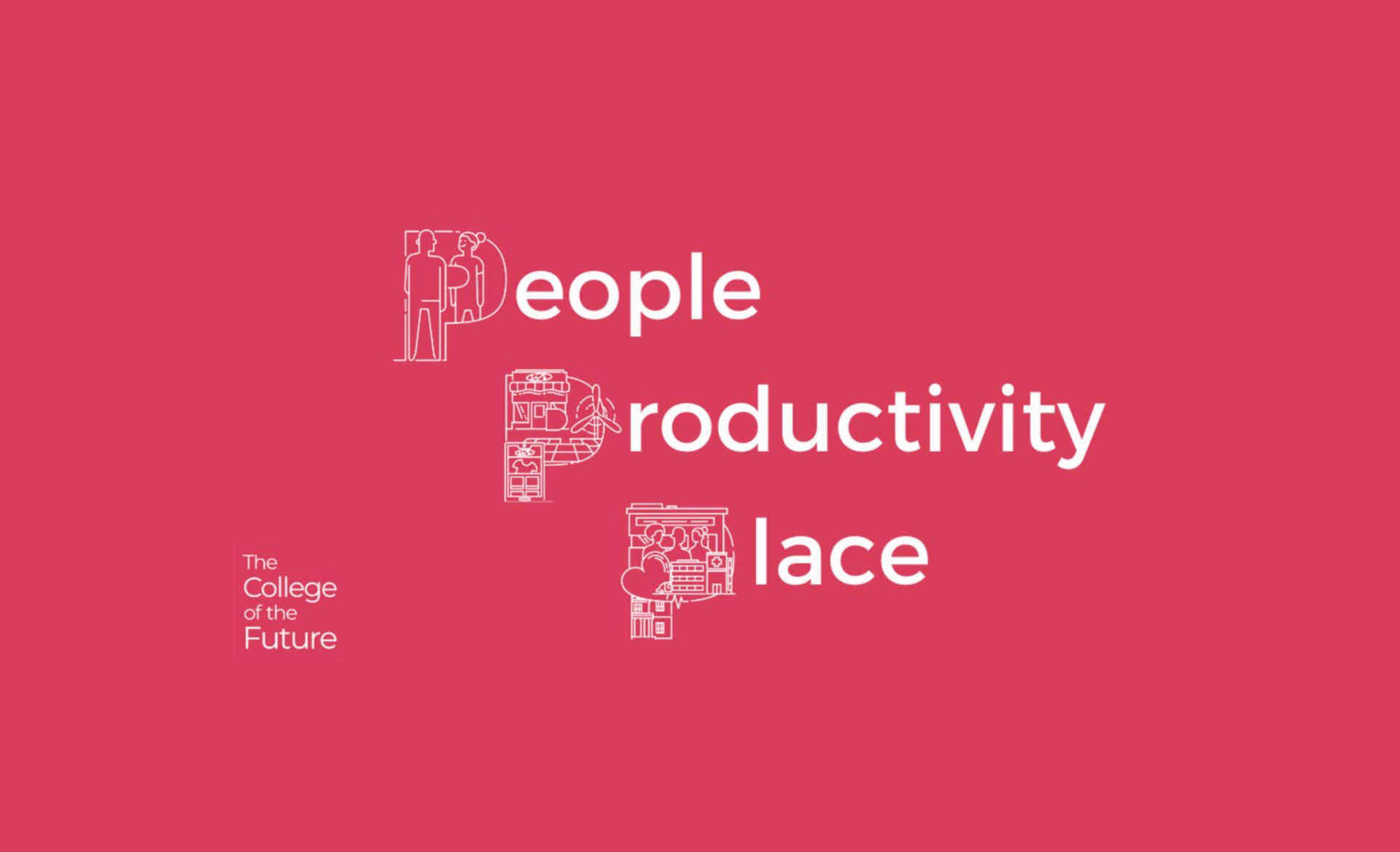 People Productivity Place pink image