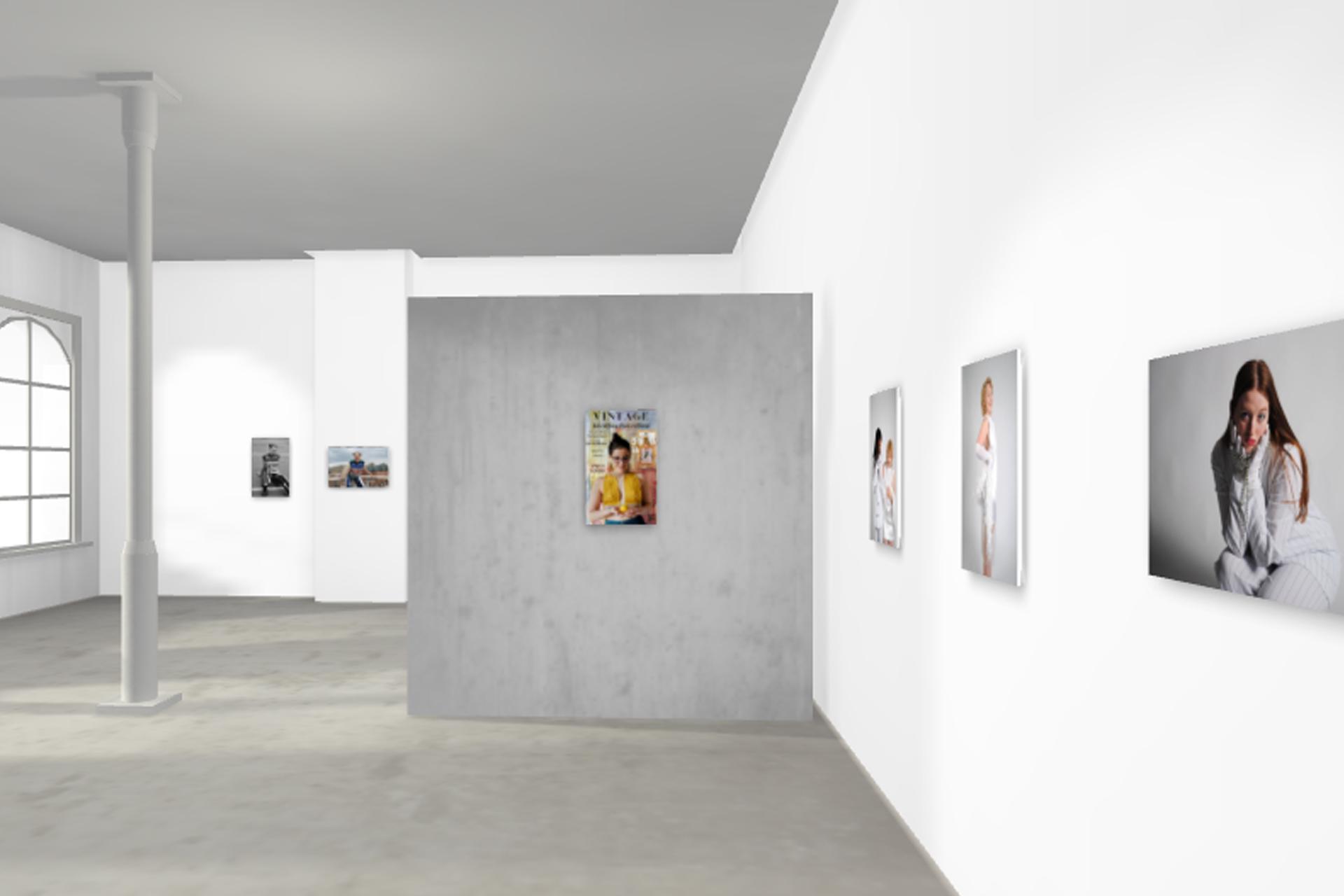 A preview of a virtual art exhibition