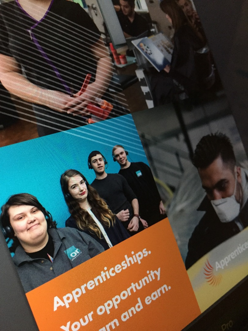 Promotional poster for Apprenticeships