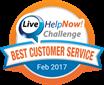 Best customer service challenge logo