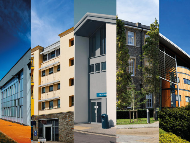 City of Bristol College buildings montage
