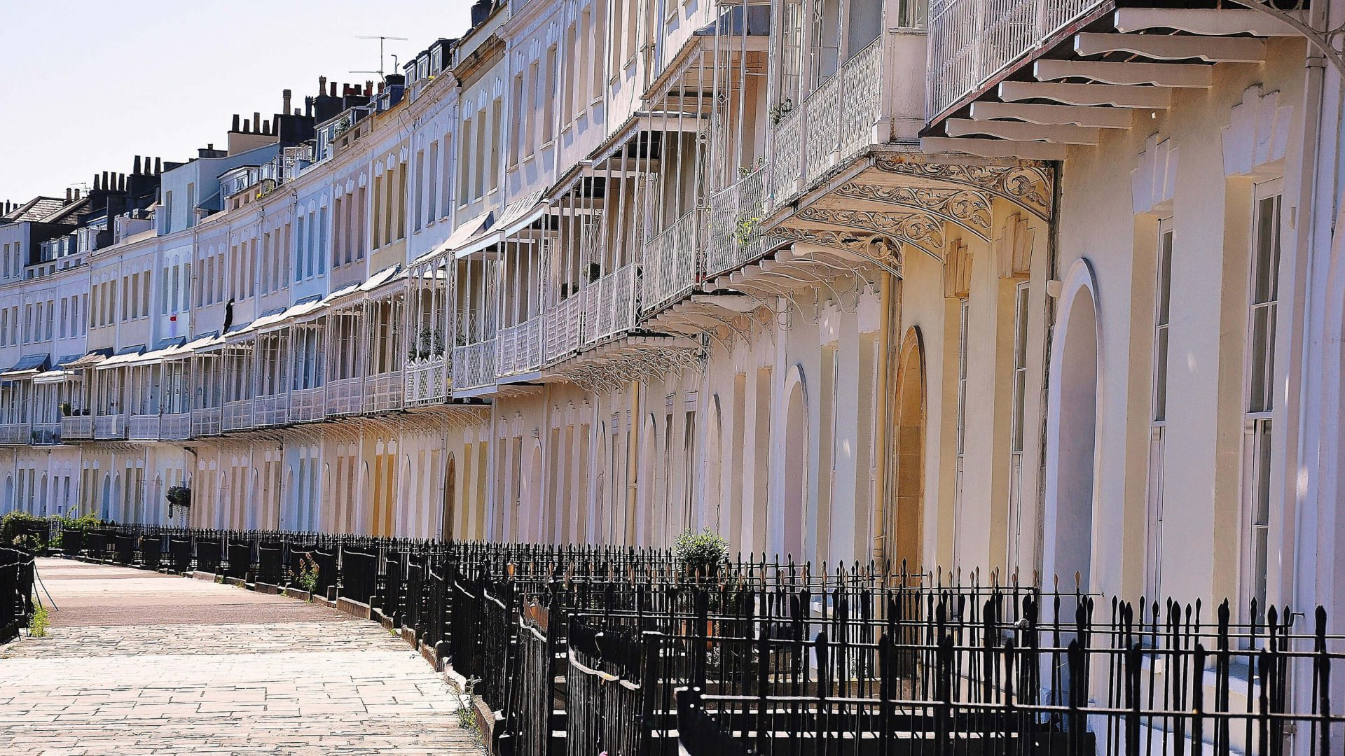 Row of houses in Clifton, Bristol