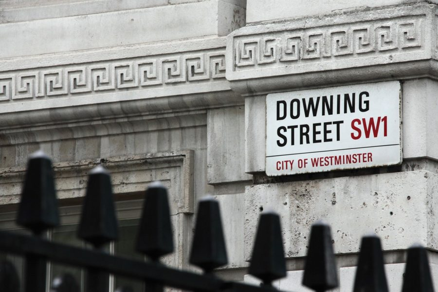 Down street sign in london