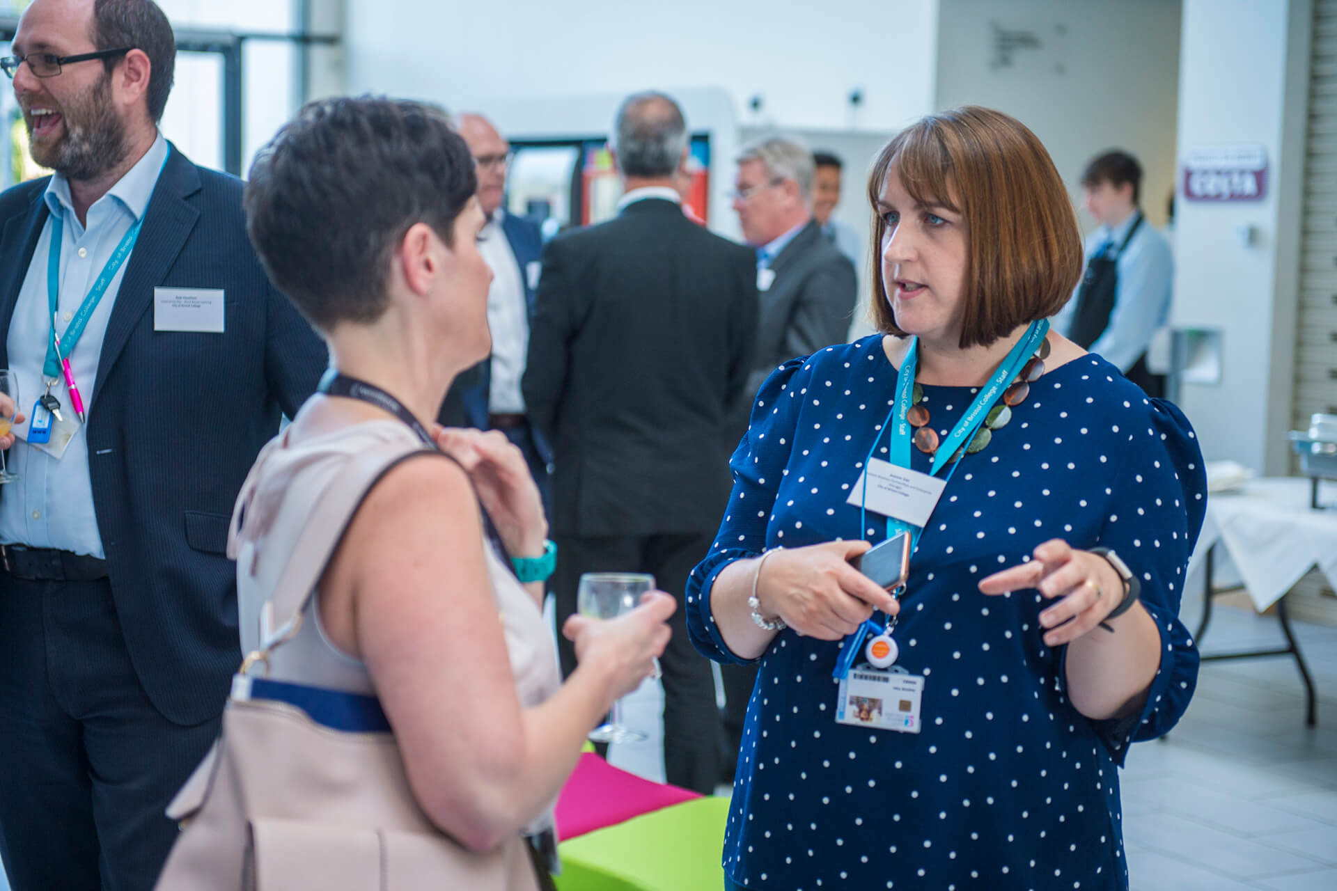 People networking at City of Bristol College