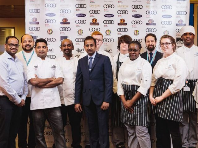 Catering & Hospitality Students stand for the camera
