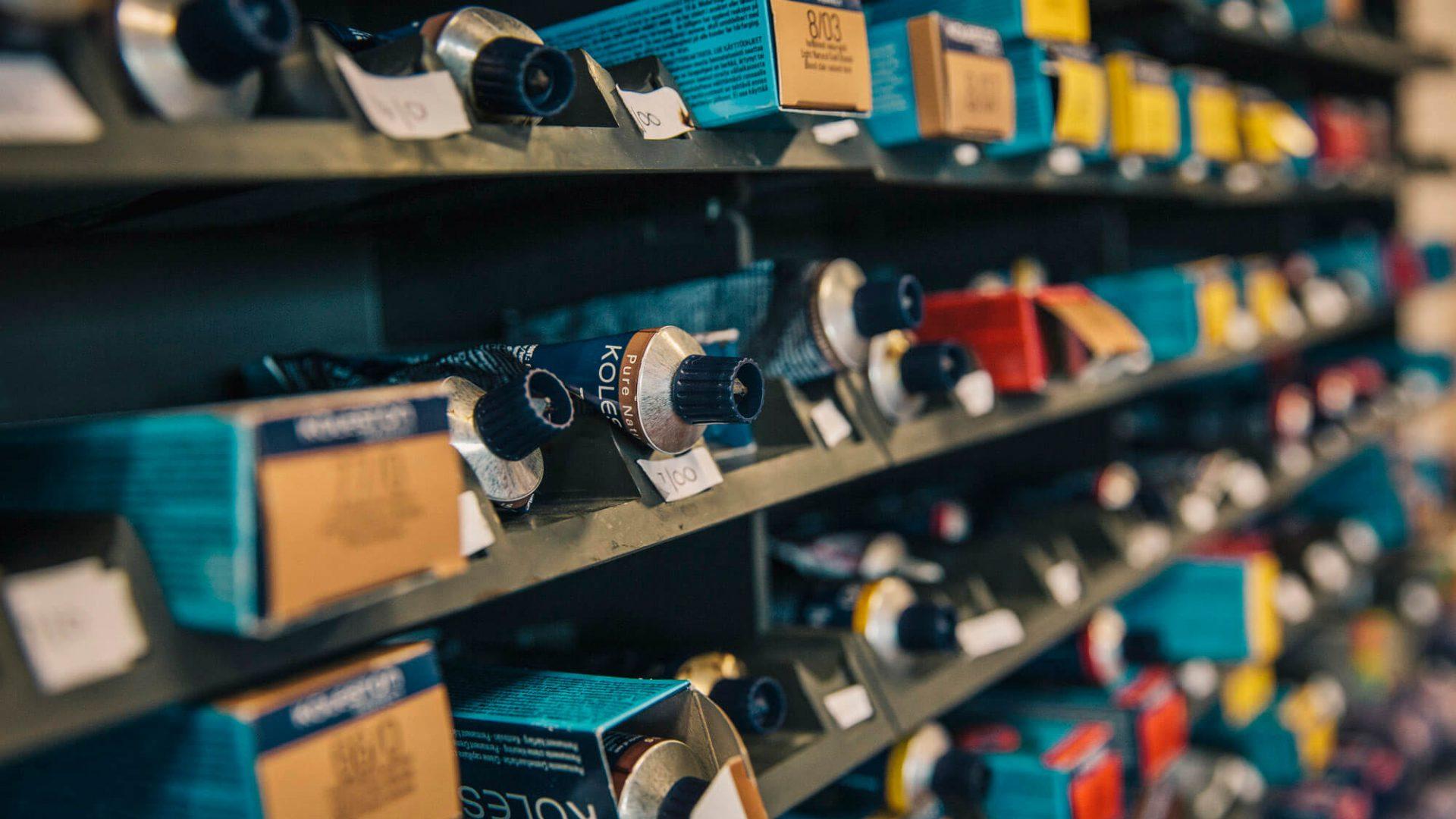 Shelf full of equipment for engineering courses