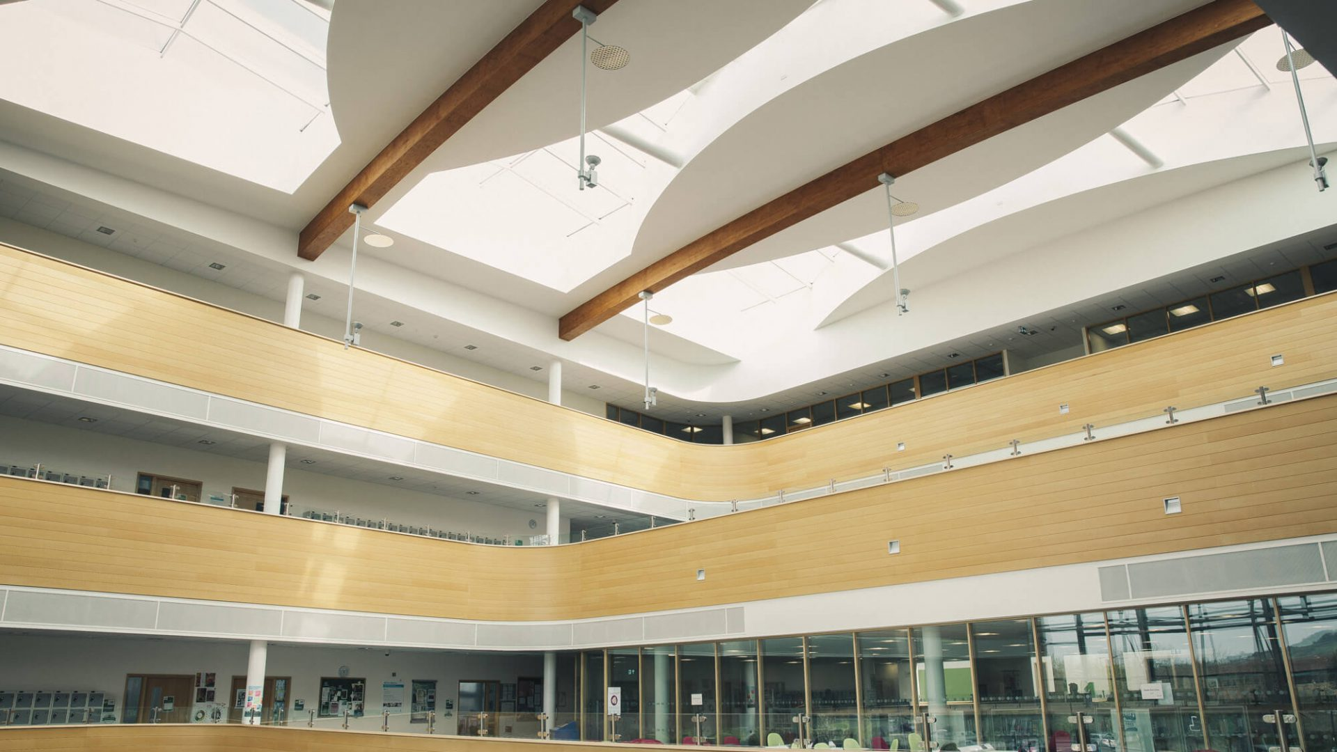 Inside of the South Bristol Skills Academy SBSA campus building